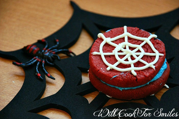 Spider-Man Sandwich Cookies