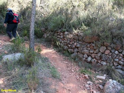 Murs de pedra seca a prop de les runes de Can Ciuró. Autor: Carlos Albacete