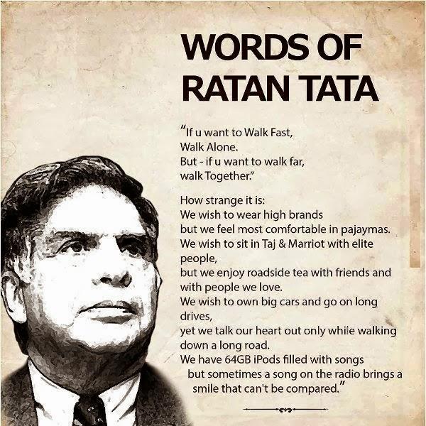 Words of Ratan Tata