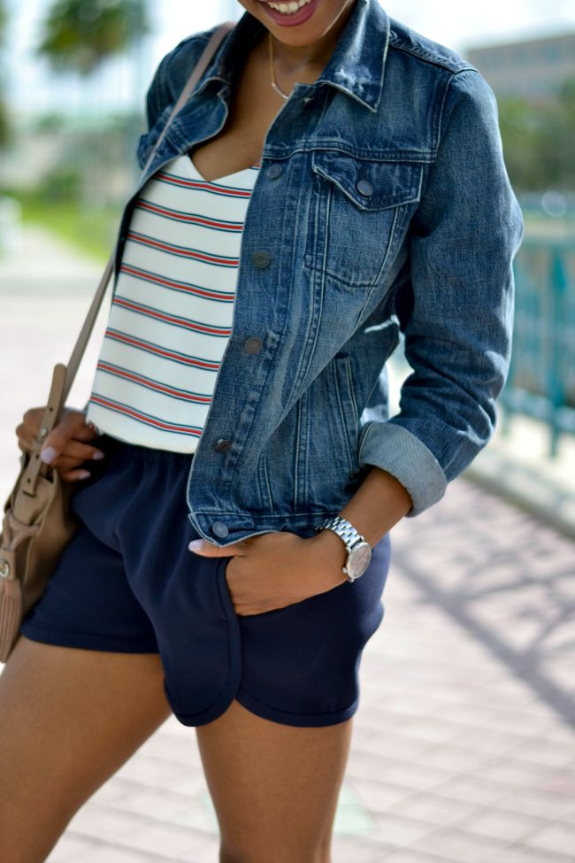 Striped Barcelona Cami & Shorts | Summer Outfits