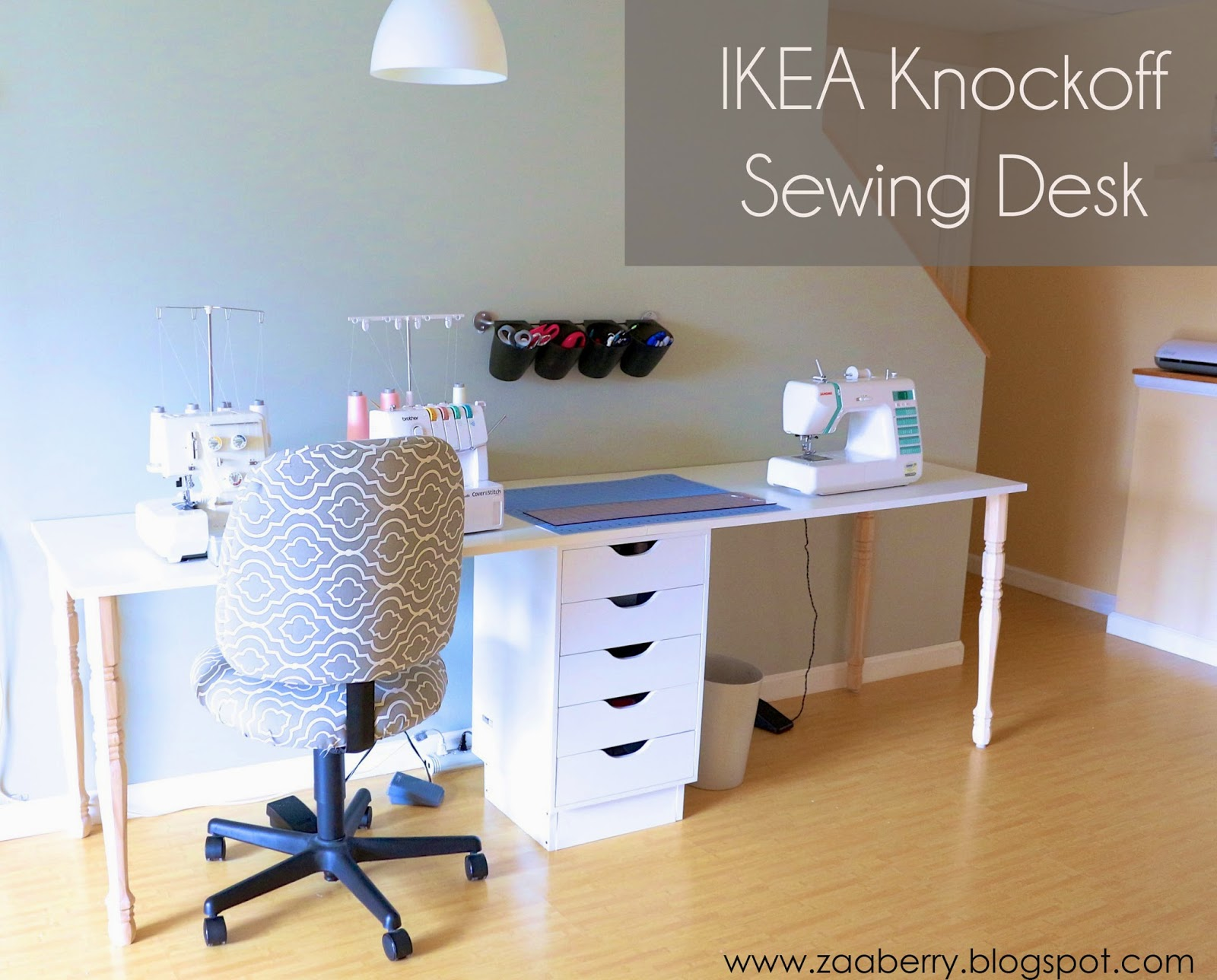 Diy Ikea zaaberry diy ikea knockoff sewing table