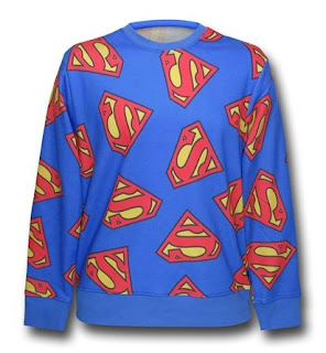 Click here to purchase your Superman symbol jumble sweater at SuperHeroStuff!