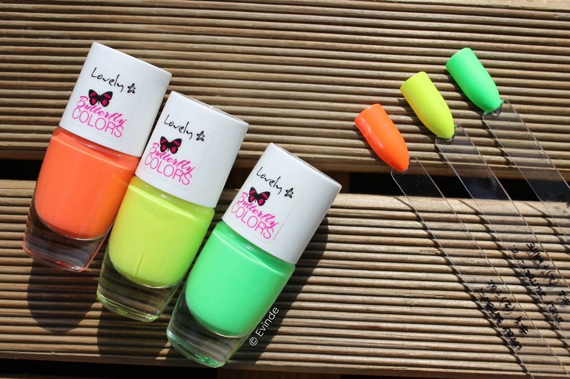 lovely butterfly colors neon nail polish