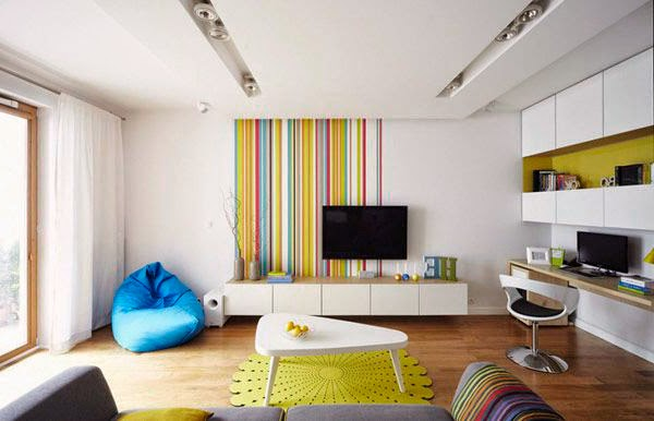 Apartment Interior Design Ideas Living Room Projector