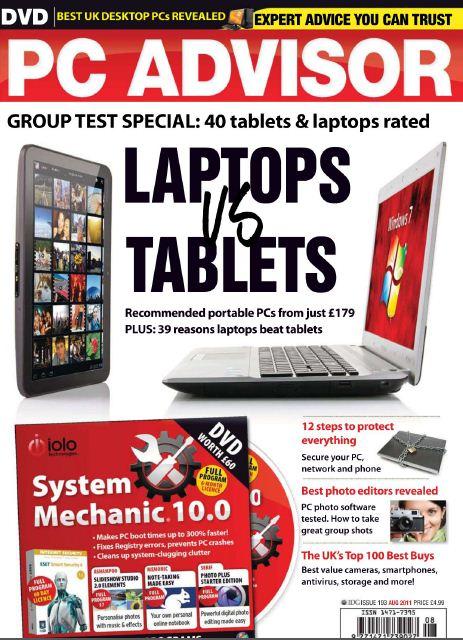 PC Advisor Magazine Laptops Vs Tablets - August 2011