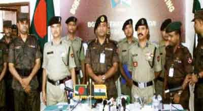 BGB-BSF hold flag meeting