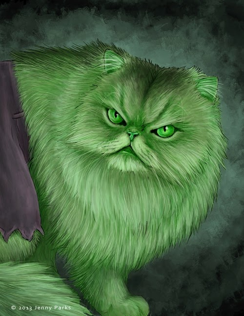 06-The-Hulk-Jenny-Parks-Drawing-Animals-Superhero-Cats-Scientific-Illustrator-www-designstack-co