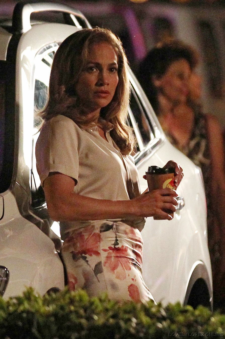 American Power Jennifer Lopez Cream Silk Blouse