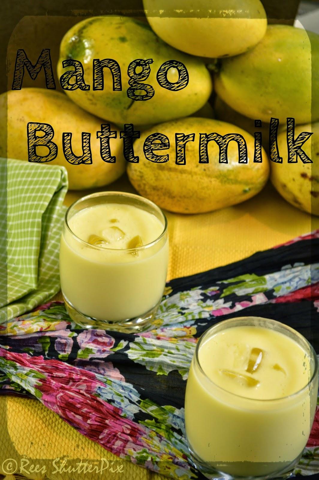 how to make mango buttermilk, mango lassi recipe