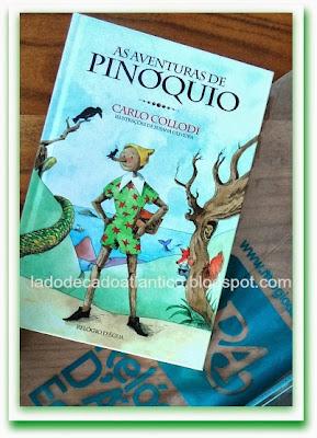 Foto da capa do livro As Aventuras de Pinóquio comprado na Feira do Livro de Lisboa em 2013