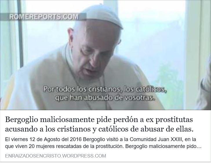 Venganza  Bergogliana