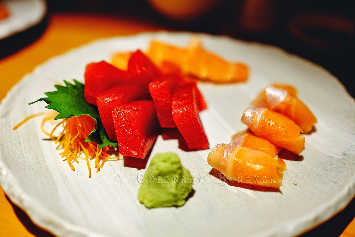 Salmon Belly Sashimi and Maguro Sashimi