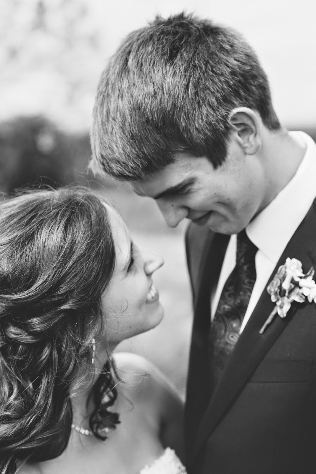 husband 22nd birthday, beautiful black and white wedding photo, happiness