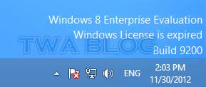 Is it possible to register Windows 8 enterprise evaluation
