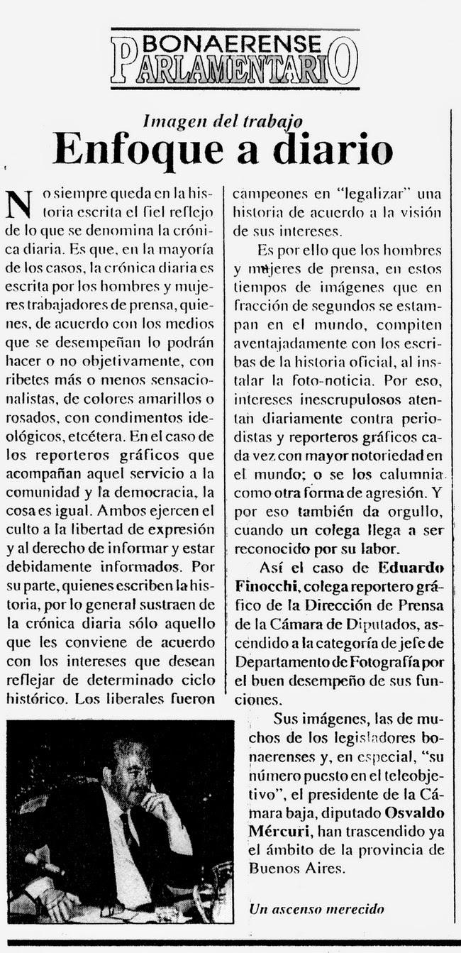"""Revista """"PARLAMENTARIO"""" 1995"""