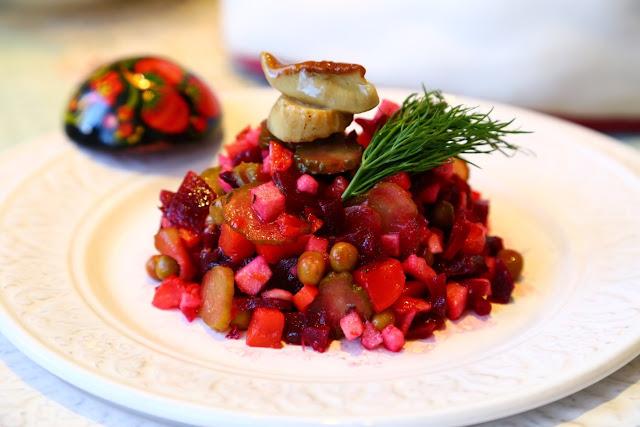 винегрет венигрет печеная свекла салат постные блюда вкусный винегрет пост яблоко