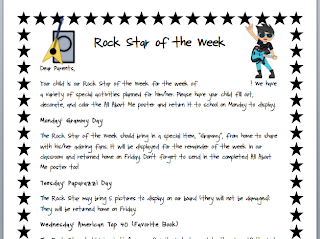 Anchored In Literacy: WINNERS! And Rock Star of the Week