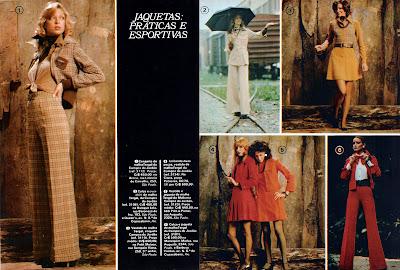 Moda anos 70. História década 70. moda feminina anos 70. propaganda de moda 1973
