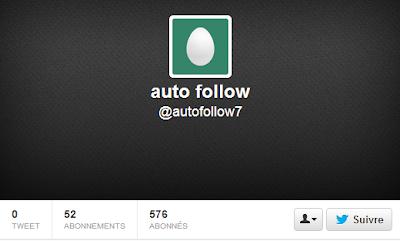 Faux profil de follower acheté sur Twitter