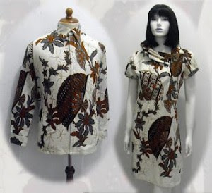 Model baju batik modern 016