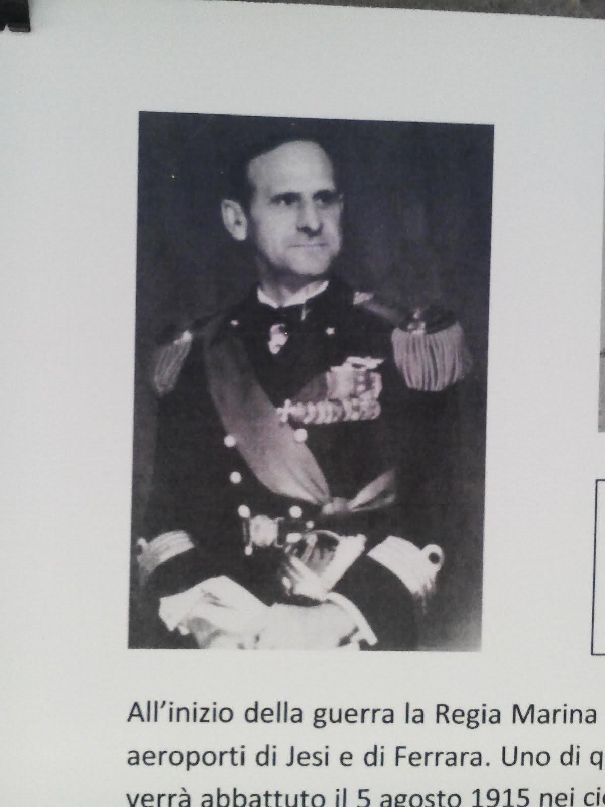 Il Comandante Bruno Brivonenrsi .Dirigibile Citta' di Jesi