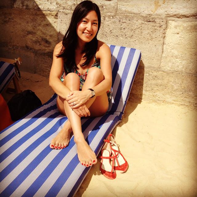 Amy La on the beach