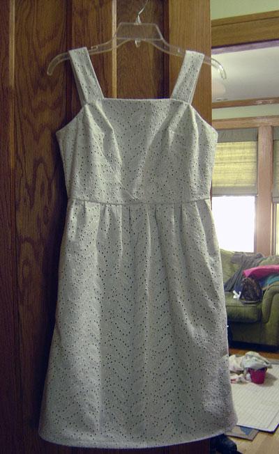 White Eyelet Hazel Dress