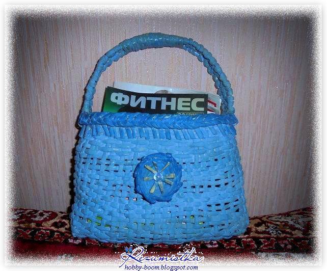 плетеная сумочка своими руками