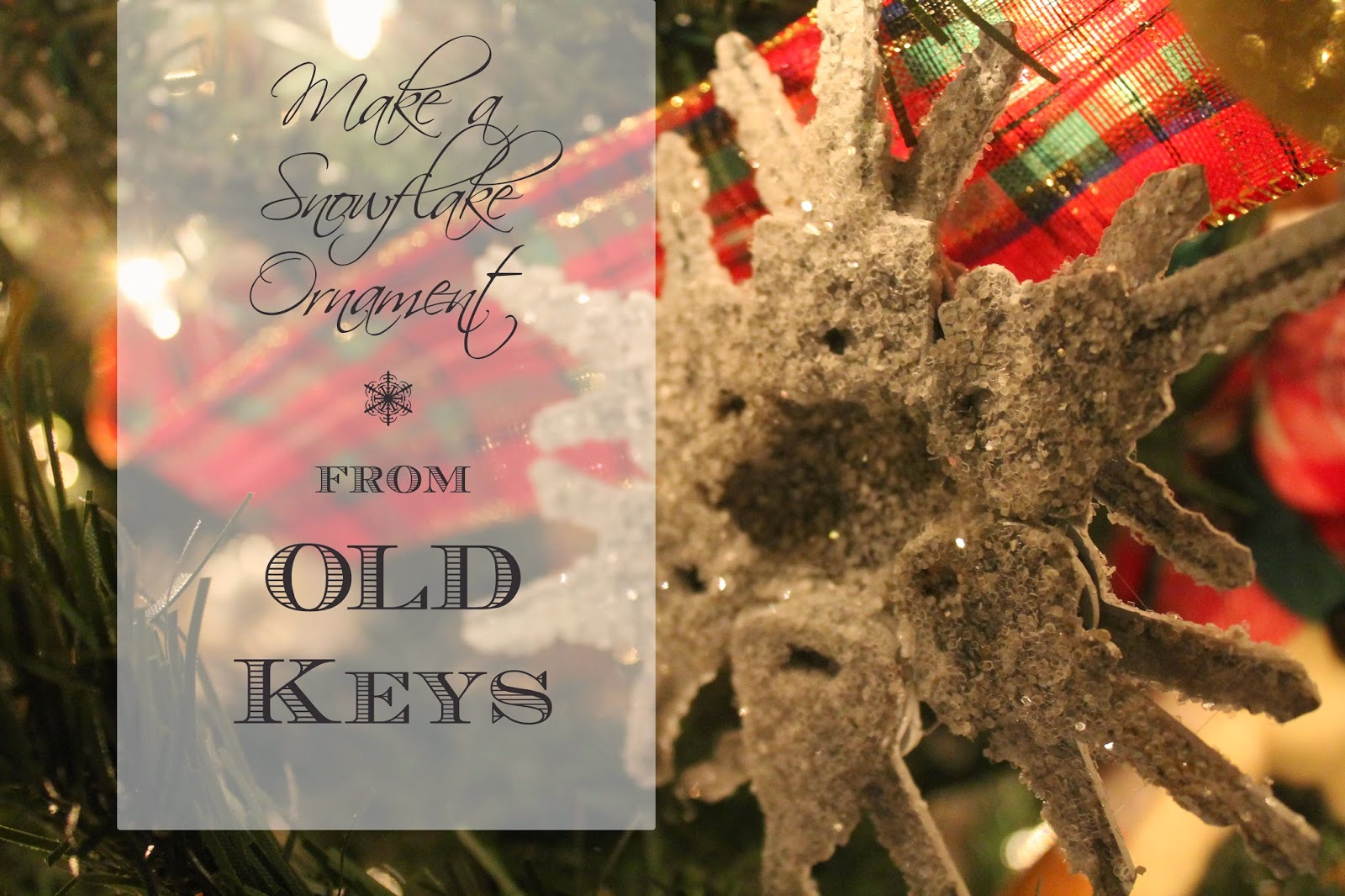 make these amazing snowflakes from old keys, the altered past blog