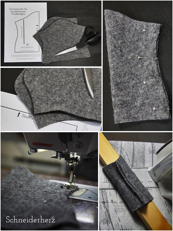 schneiderherz wohlig warme woll walkstulpen inkl schnittmuster. Black Bedroom Furniture Sets. Home Design Ideas