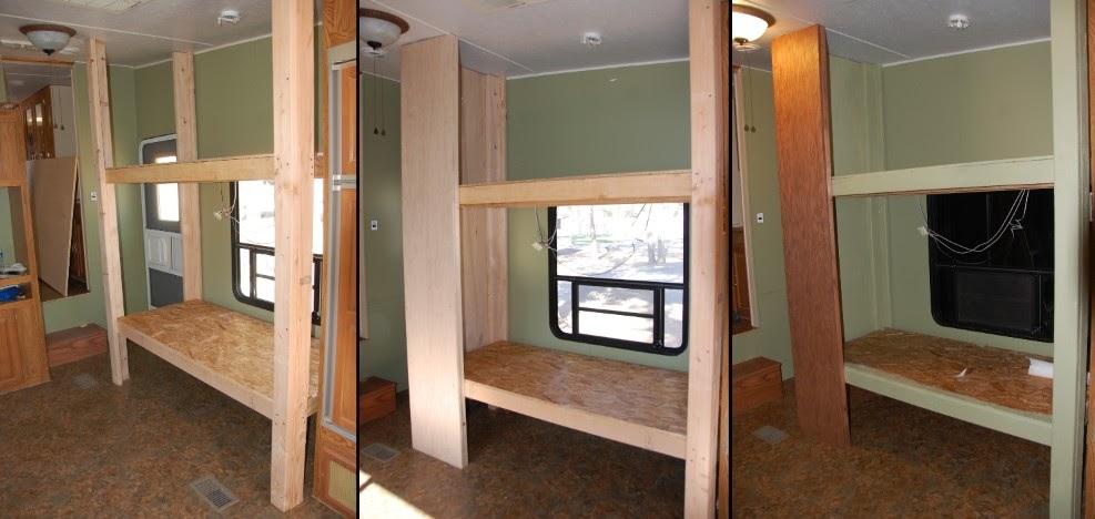 bunk beds built. Black Bedroom Furniture Sets. Home Design Ideas