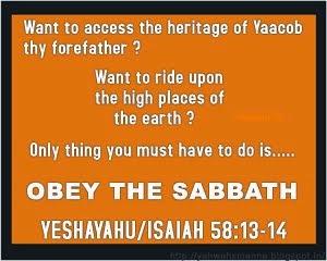 SABBATH = BLESSING'S