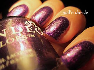 Anochi, Kai, Candeo, purple, glitter, gold, duochome, nail, polish, jelly,
