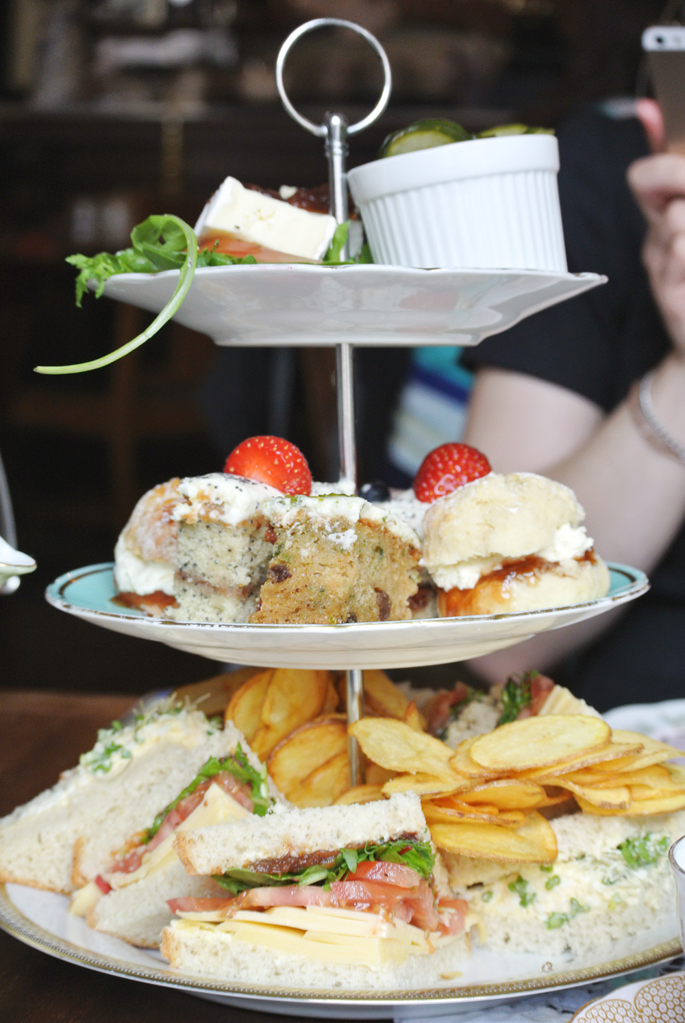 Afternoon Tea at the Tearooms at the Butterfly and the Pig