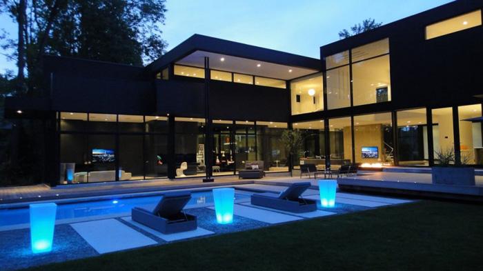 Casas minimalistas y modernas piscinas modernas y for Modern house 44