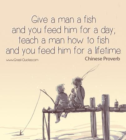 Happy days ahead apa lagi pelajar mahu with giler for Teach a man to fish bible verse