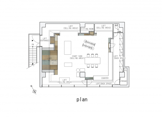 takato tamagami unique loft design site plan