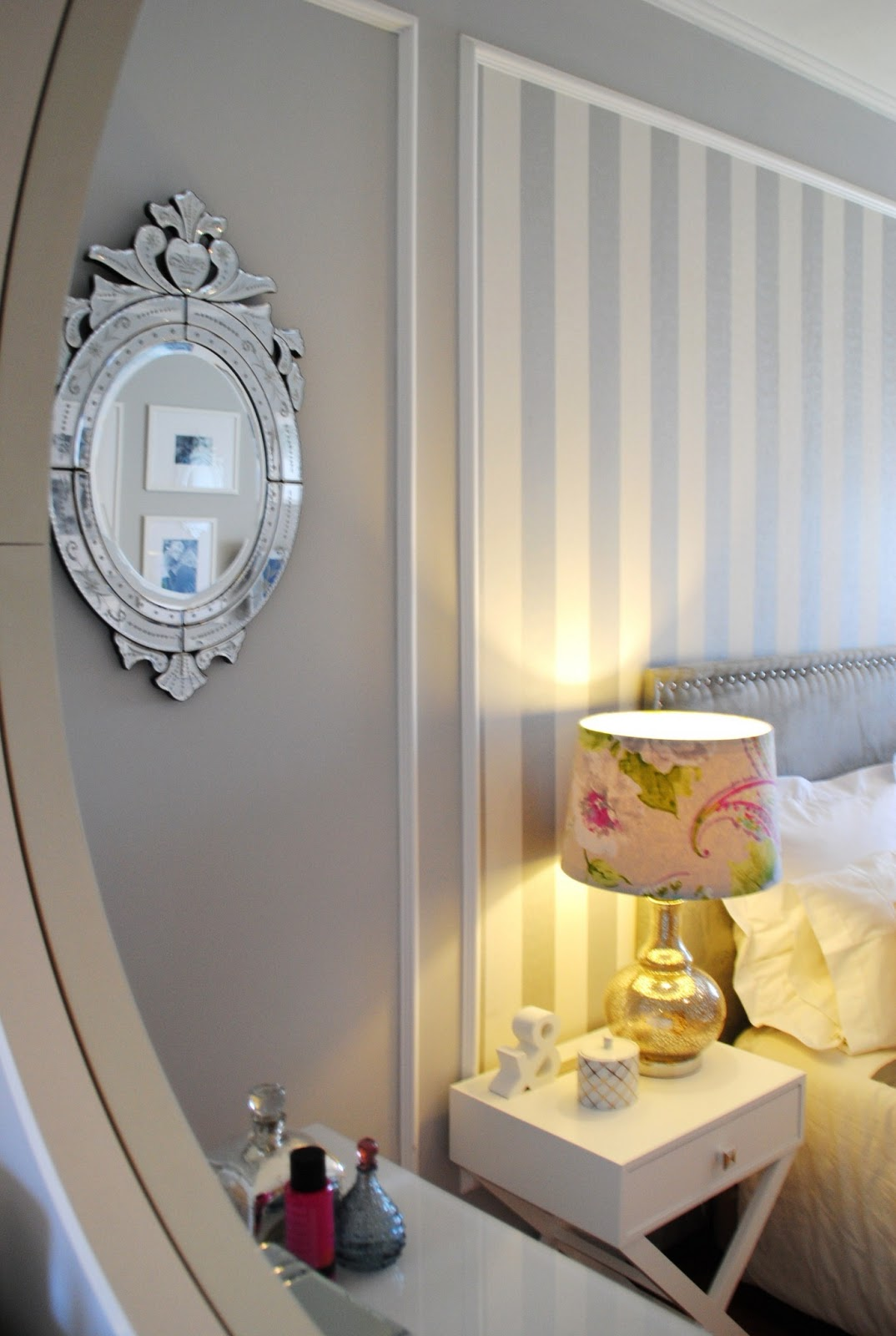 White glam master bedroom lojas e afins - Ikea papel pared ...
