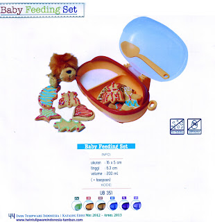baby feeding set tulipware 2013