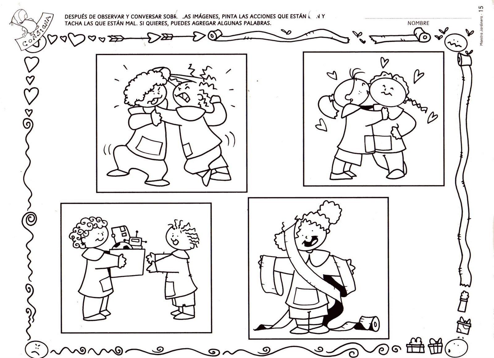 Imágenes de normas de convivencia en el aula para colorear - Imagui
