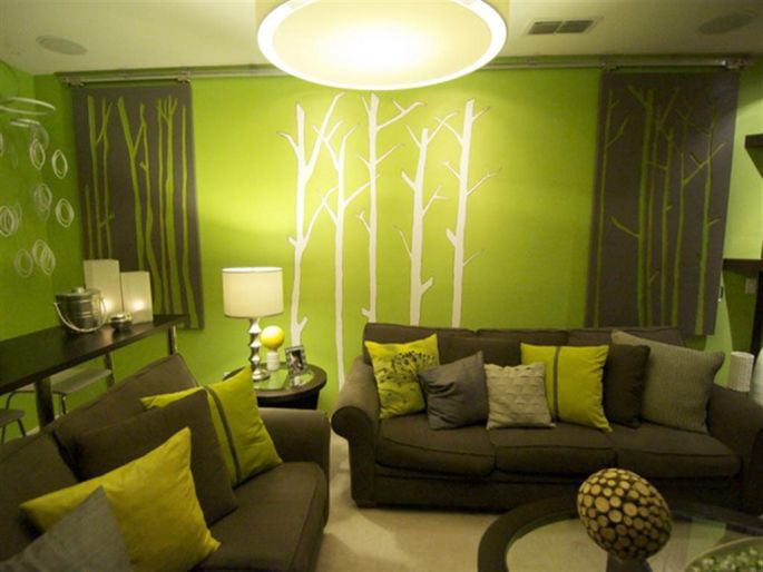 Living Room Decorating With Shades of Green Color - Home Decors ...