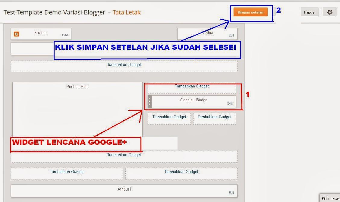 Kerangka Template Website dan Blogspot