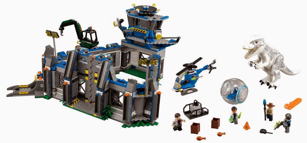 JUGUETES - LEGO Jurassic World  75919 Indominus Rex Breakout  Producto Oficial Película 2015 | Piezas: 1156 | Edad: 7-12 años
