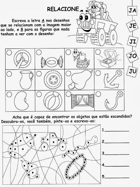 jipe,Atividades com a letra J.Ensino Fundamental, Atividades para imprimir, Alfabetização, Letras, 1º ano.
