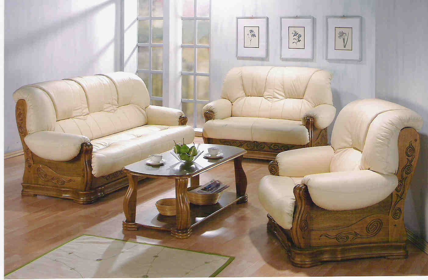 beautiful wooden sofa set design