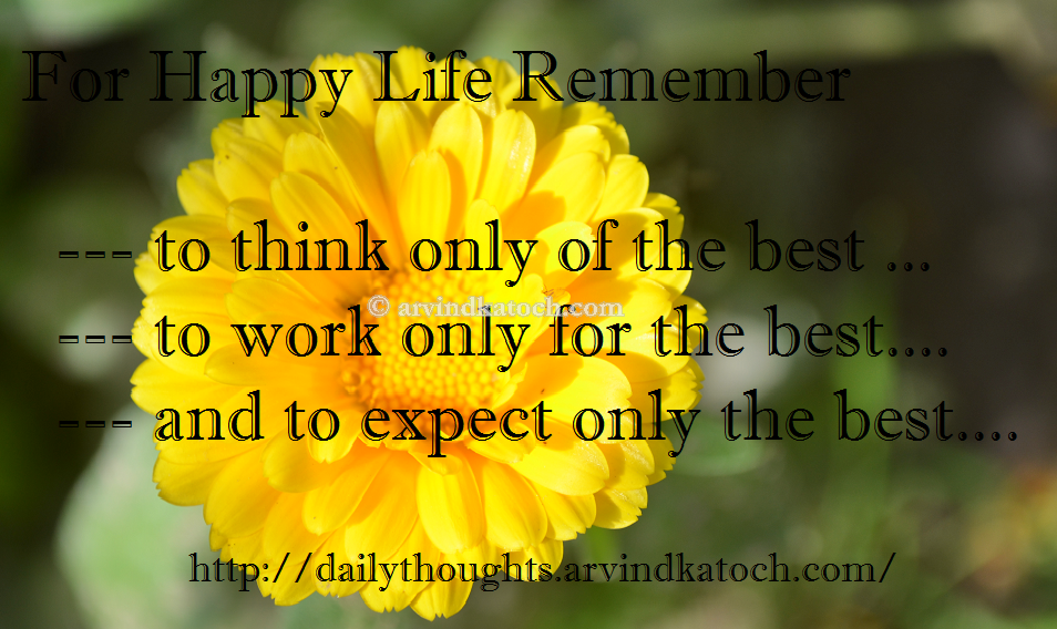 Daily Thought of Day HD Picture Message on Happy Life