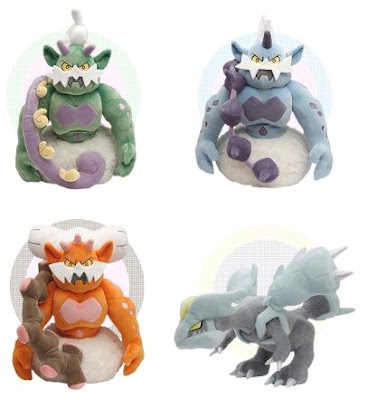 Pokemon Plush Tornadus Thundurus Landorus Kyurem Dec 2011 PokeCenJP