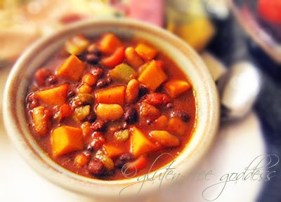 Slow-Cooker Sweet and Spicy Vegetarian Butternut Squash Chili