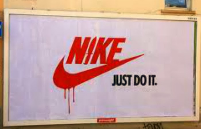 Obraz: adbusting reklama Nike just do it