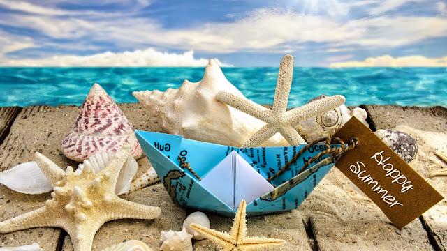 Estrellas de Mar y Caracoles feliz verano